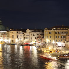 Venice, Italy - Nighttime long exposure on the Grand Canal