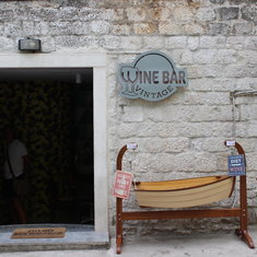 Split, Croatia - Wine bar in Trogir, Croatia