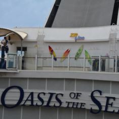 Zipline on Oasis of the Seas