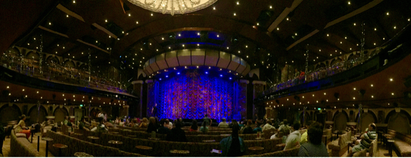 waiting for the show to start - Carnival Triumph