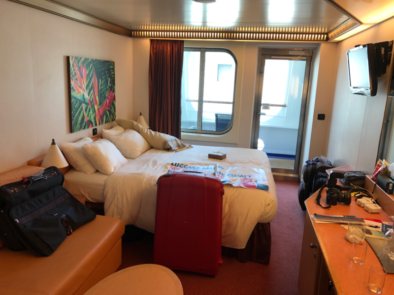 Balcony Cabin 2412 On Carnival Magic, Category 7C