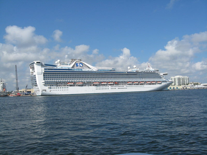 Our ship at the intermediate port--Ft Lauderdale - Caribbean Princess