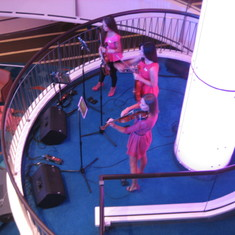 Violinists in Atrium