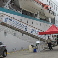 Gangway for the University at Sea