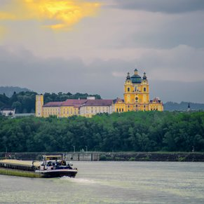 Stift Melk from the Danube River