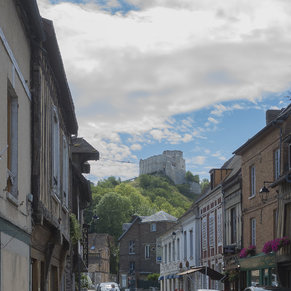 Château Gaillard overlooking the town Les Andelys