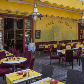 "The ""Yellow Cafe"" based on the painting by Van Gough "" Le Café du Soir"""