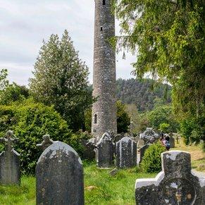 The Round Tower at Glendalough, Ireland