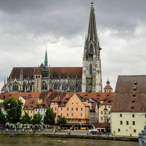 Regensburg Cathedral and part of the Old Town