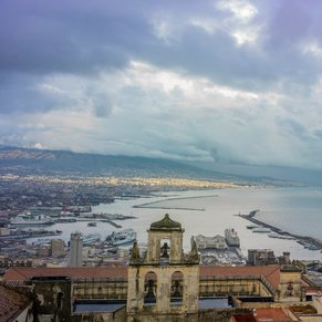 Port of Naples from Castel Sant Elmo