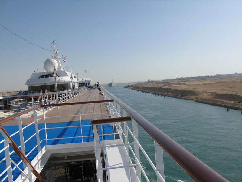 Suez Canal Transit - Cruising the Suez Canal--North to South--From the Seven Seas Mariner