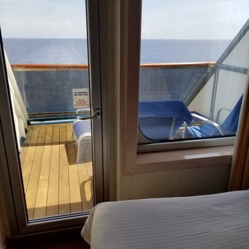 Aft-View Extended Balcony Stateroom on Carnival Liberty
