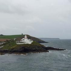 Passing the coast toward Cobh, Ireland