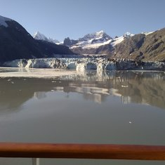 View from our balcony @ Glacier Bay