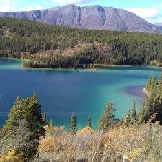 Emerald Lake in Yukon Territory, Canada