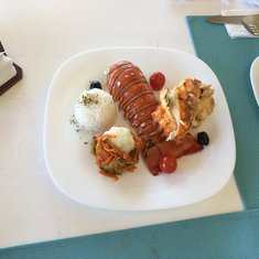 Lobster at private resort in Costa Maya Called Almaplena loved it $18 bucks