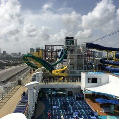 NCL Escape upper deck 18 Forward Aft to Rear , Huge Ship