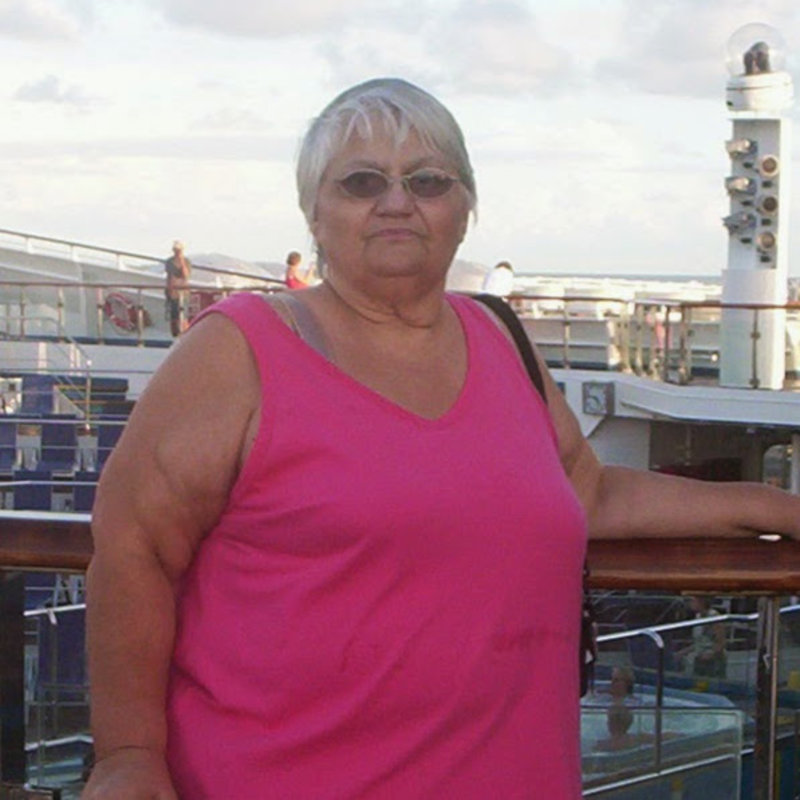 Deb on her first cruise - Carnival Triumph