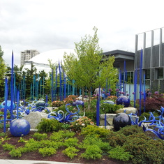 Just one of the gardens at the Chihuly Glass Museum
