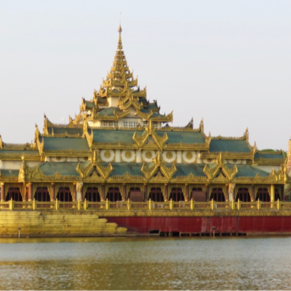 Yangon, Myanmar:  Royal Barge (3 April 2016)