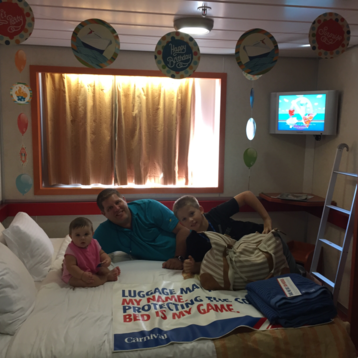 Oceanview Stateroom on Carnival Inspiration
