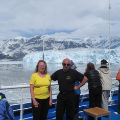 Hubbard Glacier, Alaska - Approaching Hubbard Glacier, we spent hours here and very close, don't believe a