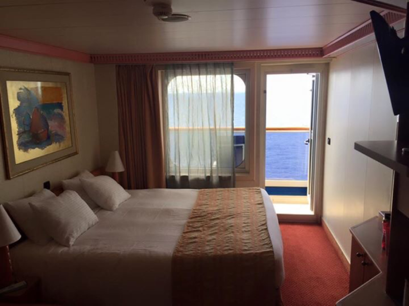 Balcony Stateroom, Cabin Category 8C, Carnival Conquest