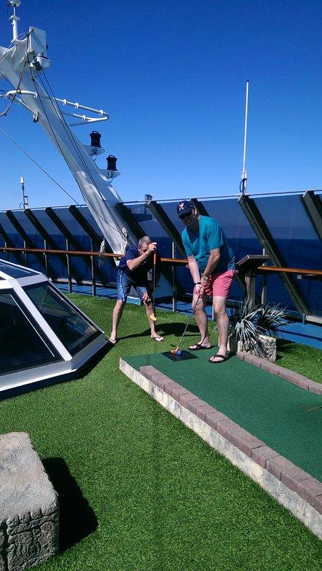 Putt putt... Melbourne Cup cruise 2015... - Carnival Spirit