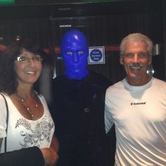 "Hanging with ""The Blue Man Group""....OK, maybe not the group, but one of the guys!"