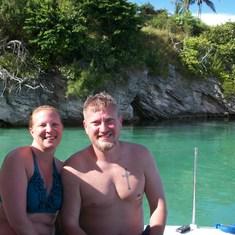 Snorkeling off King's Warf, Bermuda.