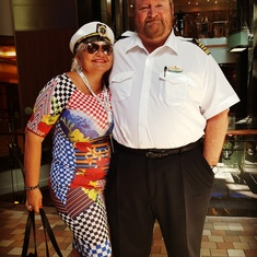 VALENTINA AVED WITH CAPTAIN RON HOLMES