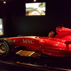 F1 Simulator on MSC Splendida