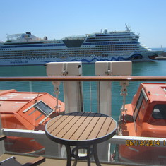 View from the balcony on deck 6