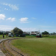 Basseterre, St. Kitts - Our train for the scenic railway trip
