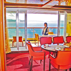 Penthouse Dinning Room & Balcony Door