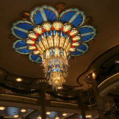Port Canaveral, Florida - The chandelier in the lobby