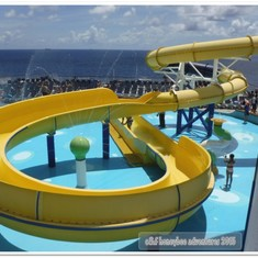 Twister water slide