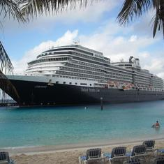 Eurodam from the Grand Turk beach