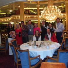 Our group with our wonderful Dining Staff