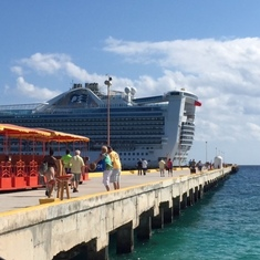 docked at Costa Maya