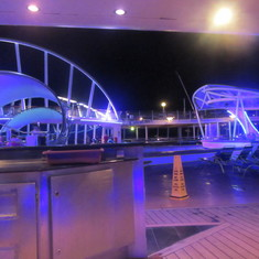 Deck 9 at night