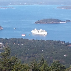 Our ship at Bar Harbor