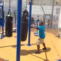 Miami, Florida - Champion boxer
