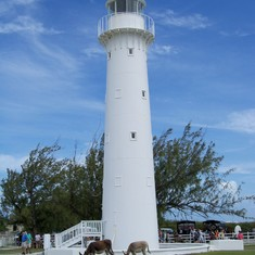 Lighthouse stop on the dune buggy excursion in Grand Turk.