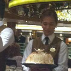 Dana's birthday cake on Royal Princess