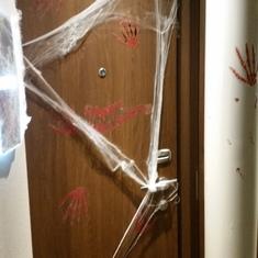 Our decorated door!