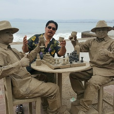 Dreaming of playing Chess with the Sand mans!