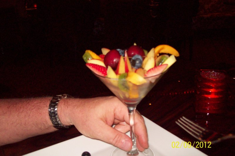 Our dessert at the Steakhouse. - Carnival Magic