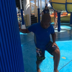 All his time spent at the water park
