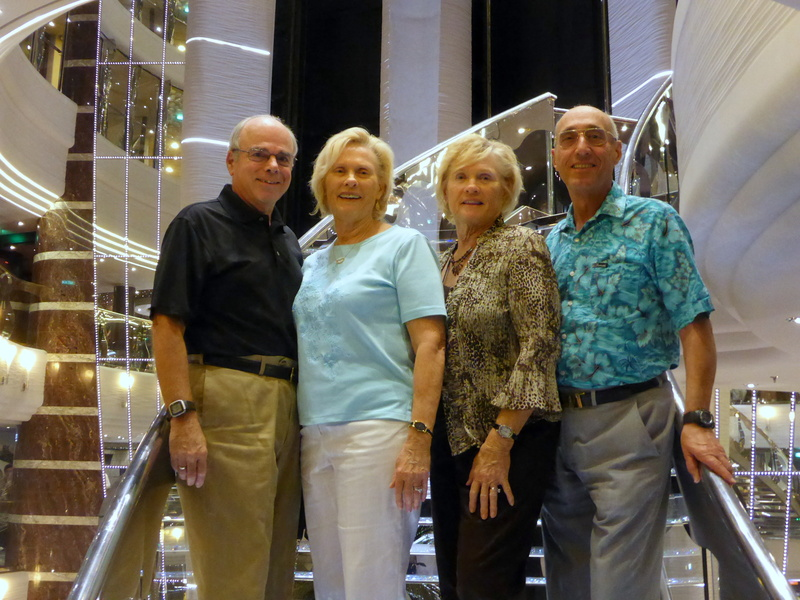 Our Party of Four - Bill, Linda, Glo & Milt - MSC Divina